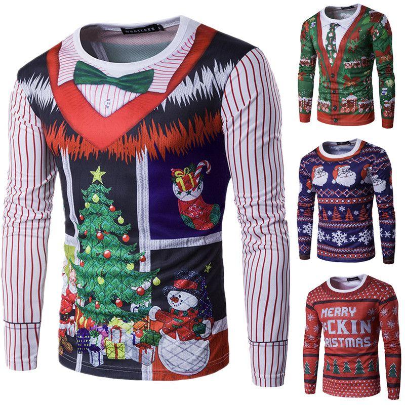 Compre Nueva Camiseta De Moda Para Hombre Disfraces De Navidad Aanta Claus 3d  Camisa De Envío En Caliente Camisetas Ropa De Navidad Nuevas Marcas Hombre  ... 3e5190112cc