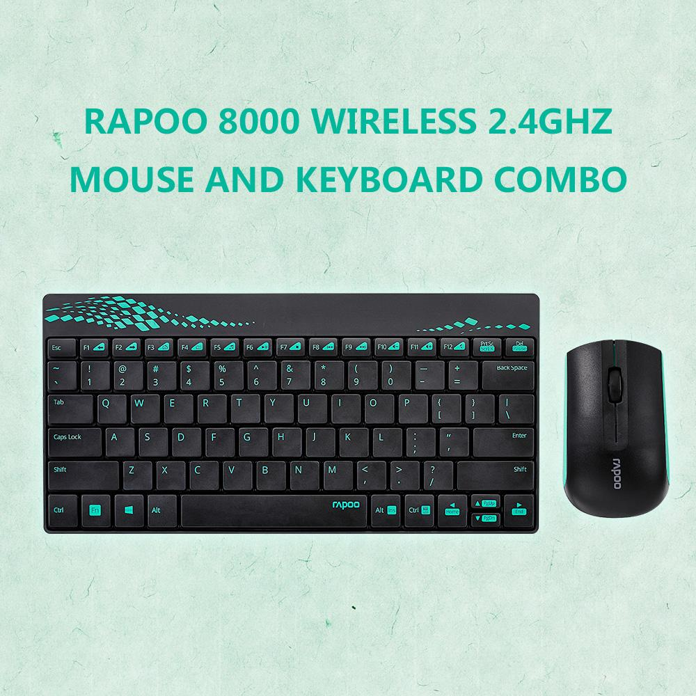 fe4cfc58740 2019 Rapoo 8000 Wireless Keyboard Mouse 2.4GHz Multimedia Optical Mouse And  Keyboard Combo With Media Hot Keys Full Size From Theresal, $39.28 |  DHgate.Com
