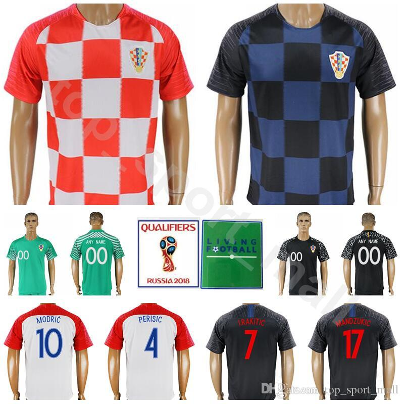 b84e38d77 2019 2018 World Cup Men Hrvatska Soccer Jersey 10 MODRIC 7 RAKITIC 4 PERISIC  Football Shirt Kits 17 MANDZUKIC 16 KALINIC Red Blue From Top sport mall