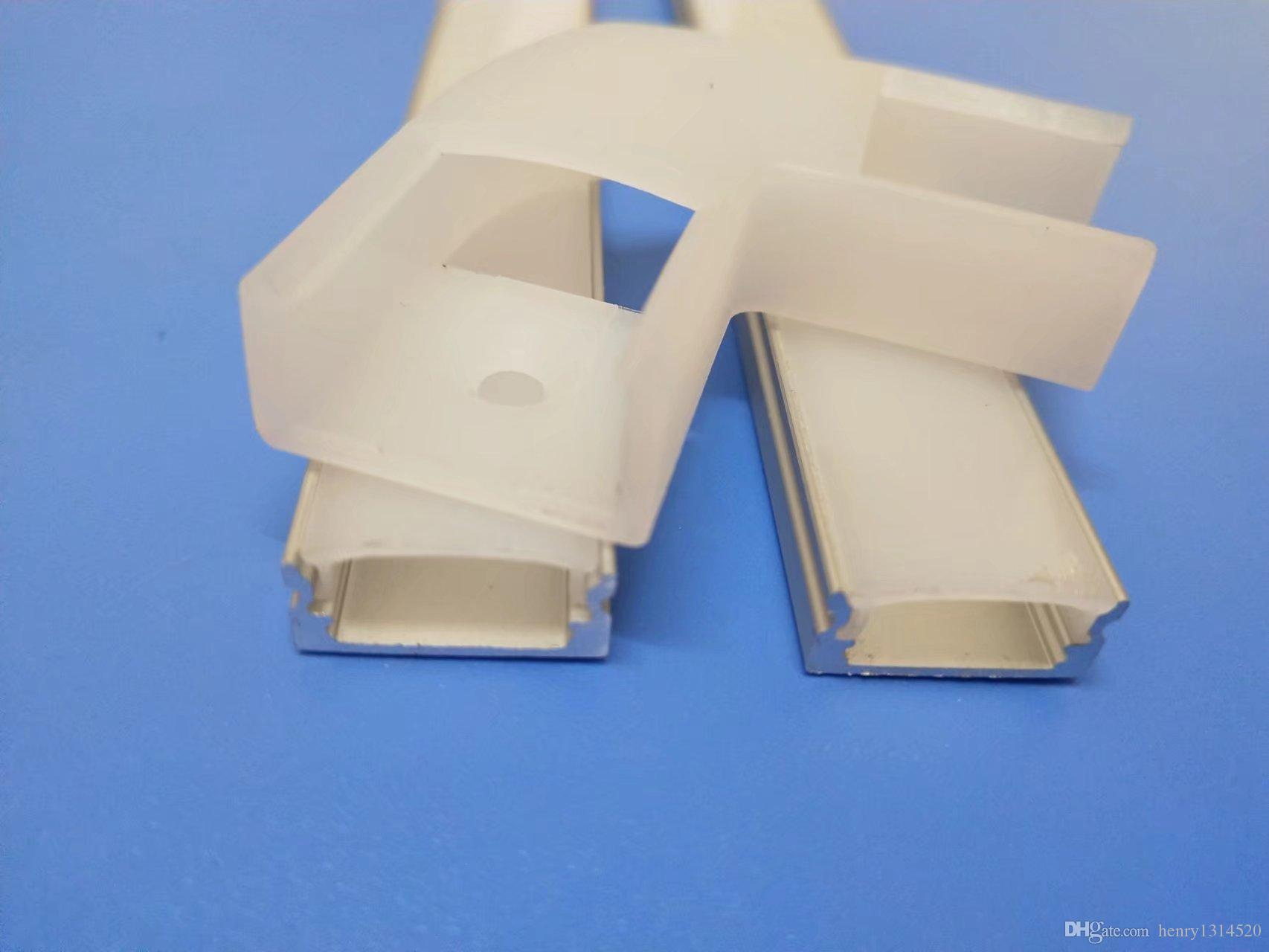 Hot-designed flat profile of pc cover and aluminum heatsink for 12mm led strip light with endcaps