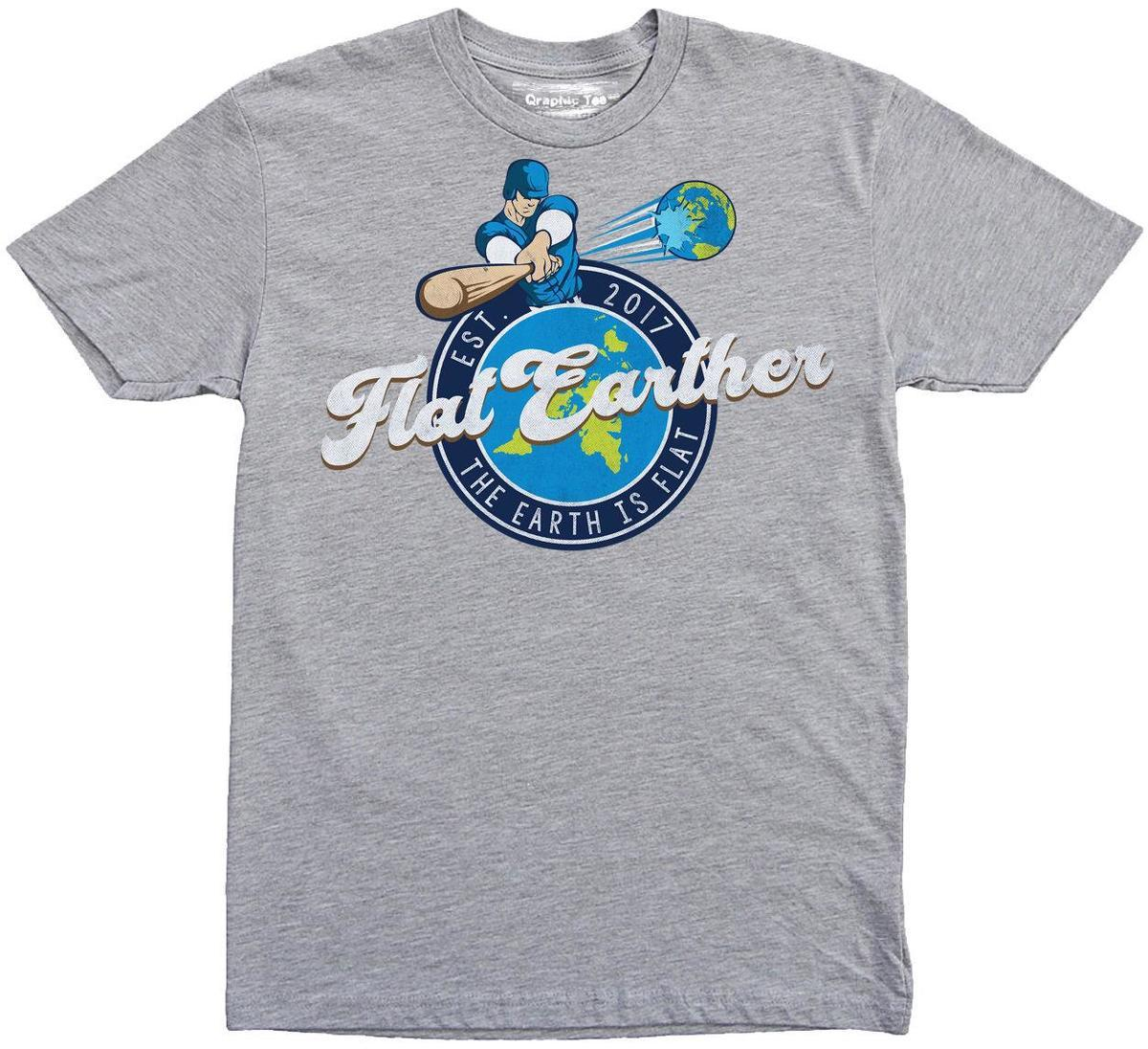 0ace2d7e Flat Earther T Shirt, Baseball, Earth Is Flat T Shirt, Flat Earth T Shirt,  NASA Business Tee Shirts Printing Coolest T Shirts Online From Amesion2507,  ...