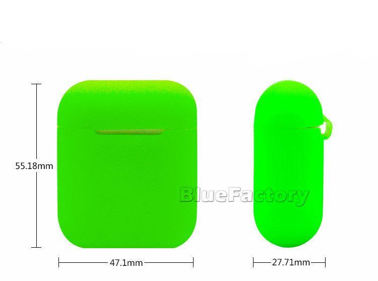 Nuevo estuche impermeable de silicona para Apple Airpods Funda protectora suave de la cubierta para AirPods Auriculares Auriculares Candy Caja colorida