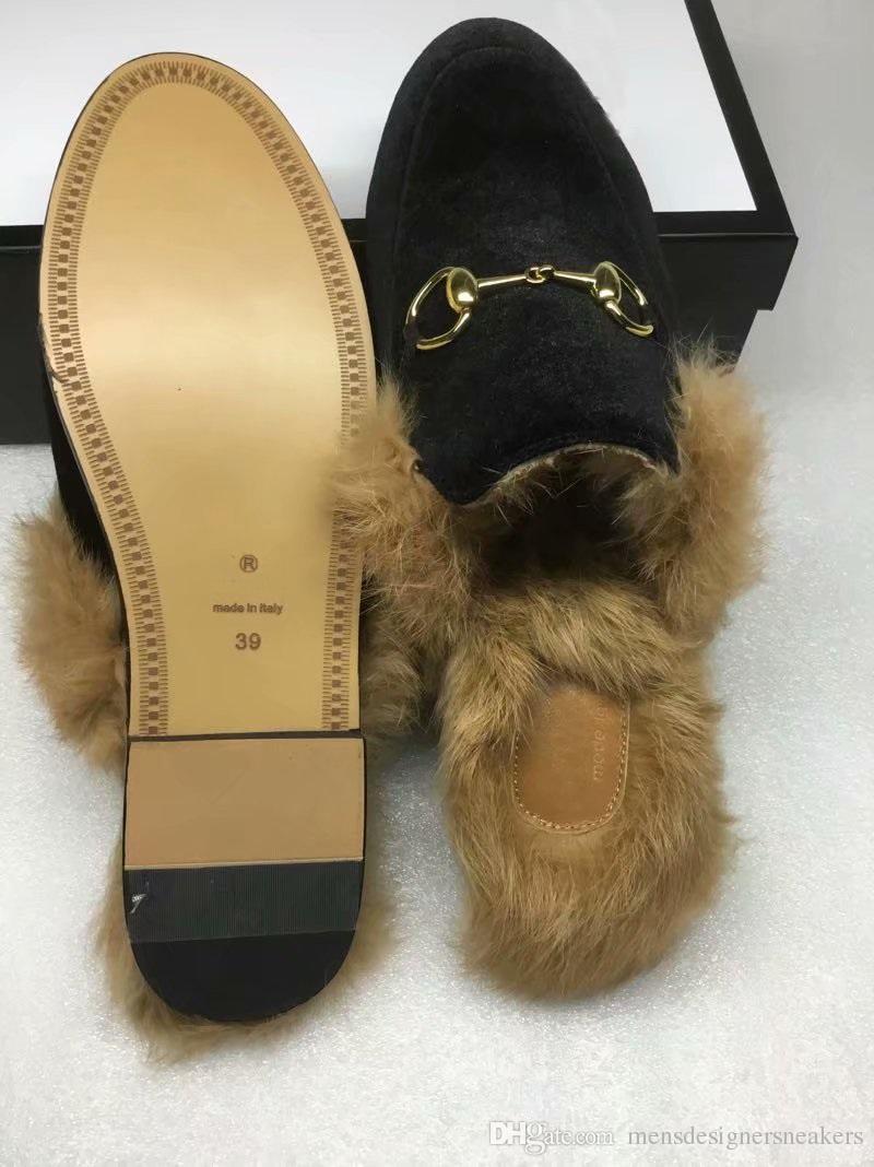 9faa45595a5 New Classics Princetown Women Fur Slipper Luxury Designer Fashion ...