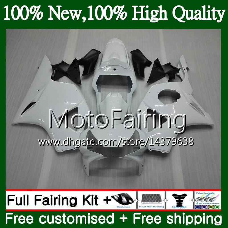 Body For HONDA CBR900RR CBR 954 RR CBR900 RR CBR954RR 02 03 41MF13 CBR954 RR CBR 900RR CBR 954RR 2002 2003 Fairing Bodywork Glossy white