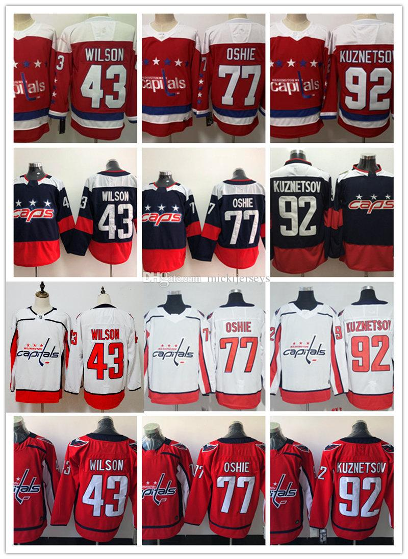 81172ce61 92 white nhl jersey 01c55 c13ea  ebay 2019 mens washington capitals evgeny  kuznetsov jersey 43 tom wilson 77 t. j. oshie washington capitals