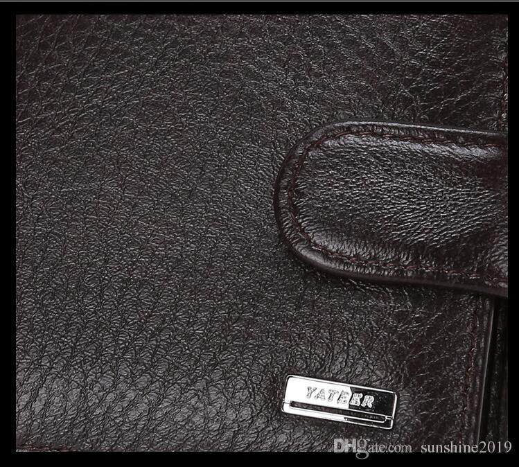 Hot 2018 New classic pattern designer wallet High Quality Genuine Leather Wallet Men Wallets Organizer Purse European American fashion vi