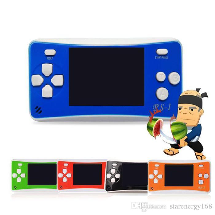 50pcs RS-1 Handheld Game Consoles Mini Protable Game Players Color Video Game Children Gifts Classic Games Box