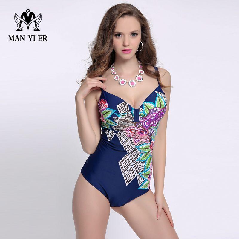 0ab65730a3 2019 Ladies Push Up One Pieces Swimsuit High Waist Leotard Swimwear Women  Plus Size 2016 New Arrival Sexy Monokini Bodysuit Beachwear From Xiatian7