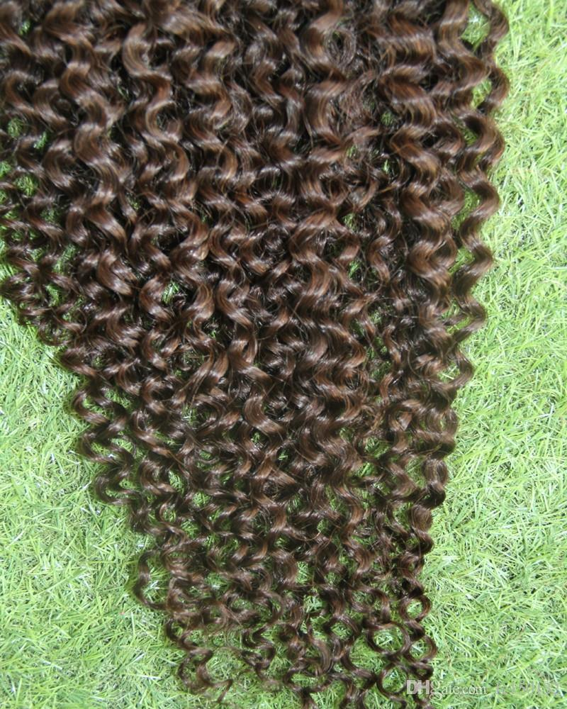 Mongolian Afro Kinky Curly Clip En Extensiones de Cabello Humano / Set Clips In 4B 4C Máquina Made afro kinky clip en extensiones Remy Hair
