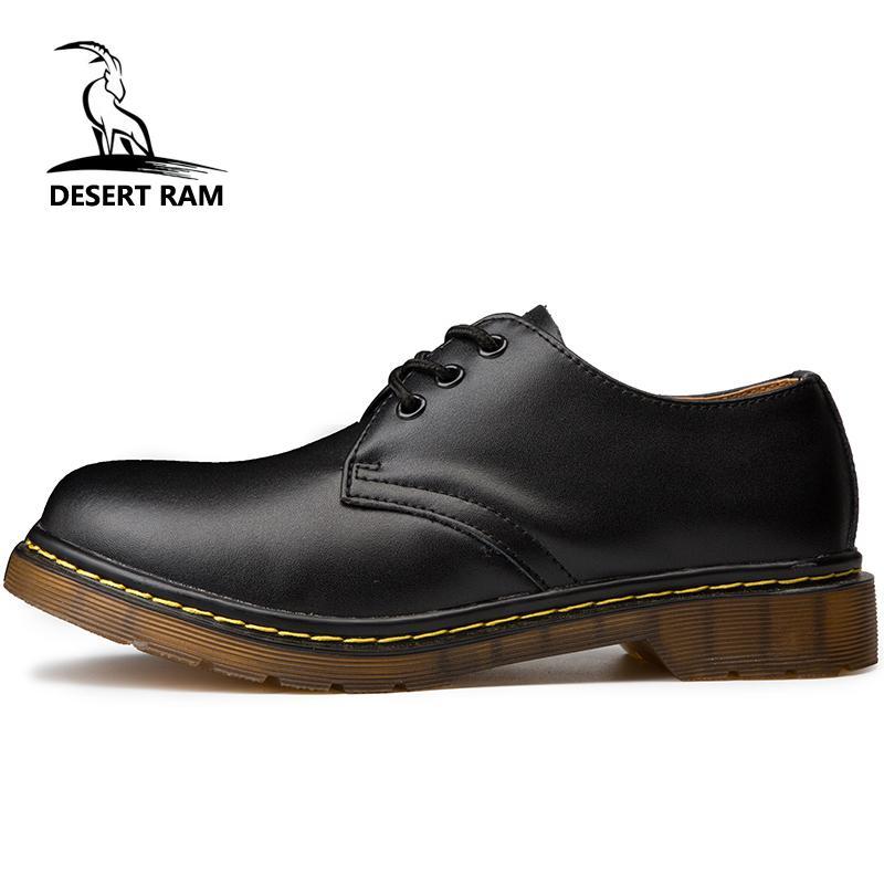 DESERT RAM Marke Herren Stiefel Plus Größe 35 46 New Martens Casual Leder Doc Martins Stiefel Herren Military Schuhe Arbeit Sicherheitsschuh