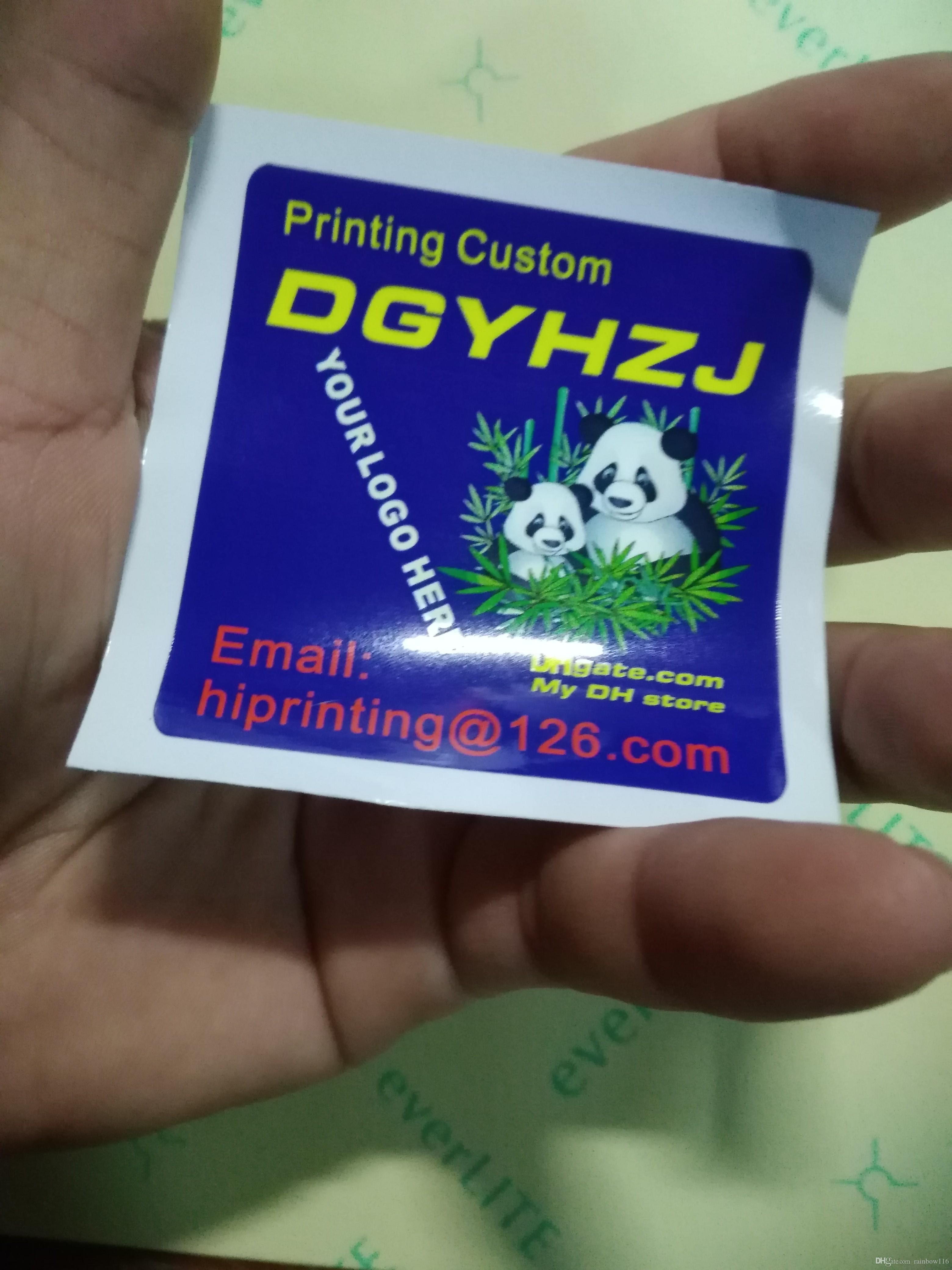 Glossy paper sticker printing custom shape custom