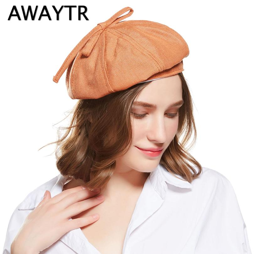 0e04d26850b AWAYTR Women Beret Autumn Winter Octagonal Cap Hats Stylish Artist ...