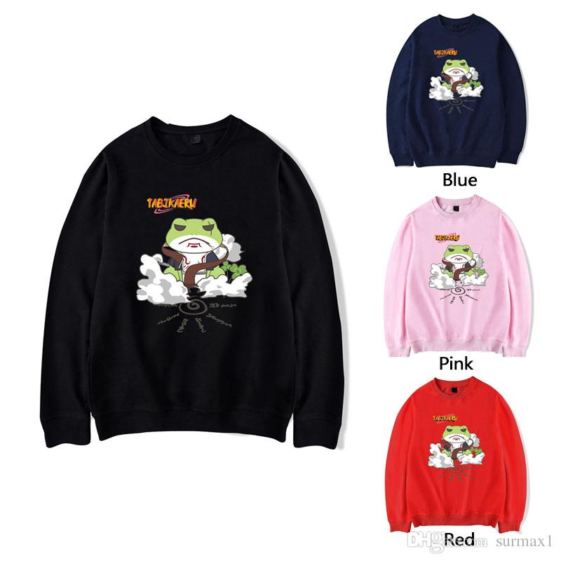 Travel frog sweatshirt multiple colors large size loose frog son cartoon print casual sports couple clothing