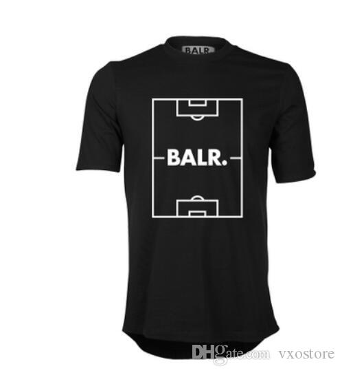 Men's T Shirts Football field print Balr T-shirt short-sleeved round neck cotton T-Shirts Men T-shirt Tops Tees Euro size