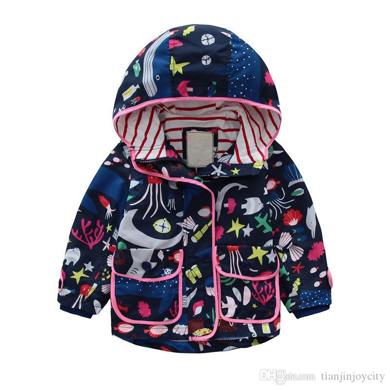 f254def202d4 Girls Jackets For Kids Boys Girls Hooded Jackets Baby Pattern ...