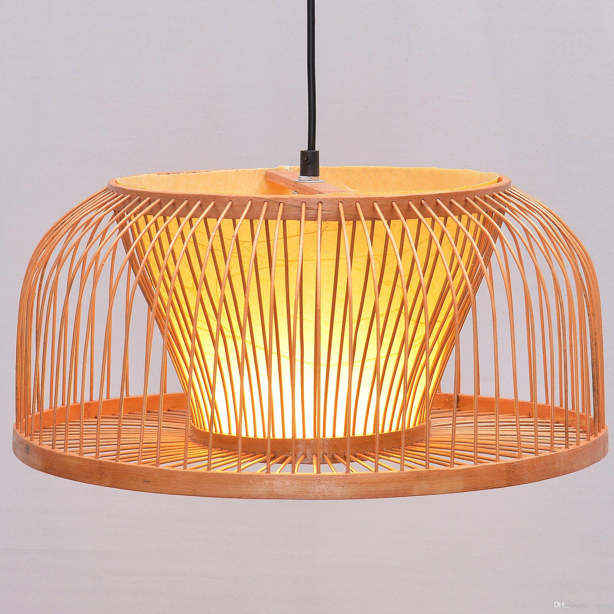 South Asian Bamboo Dining Room Ceiling Pendant Lamp Hand Made