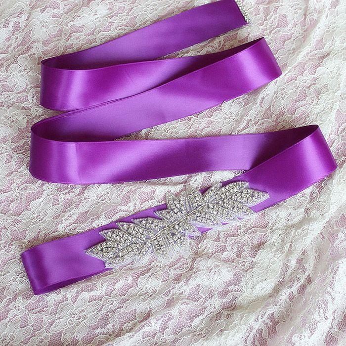 New Wedding Accessories Belt Bridal Sash Wedding Princess Rhinestone Belt Girl Flower Bridesmaid Dress Sash Multi Color Ribbon SW69