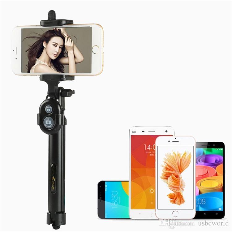 휴대용 삼각대 2-in-1 확장 가능한 블루투스 Selfie 스틱 for iPhone X 8 7 6 6S 6Plus Samsung Android 스마트 폰