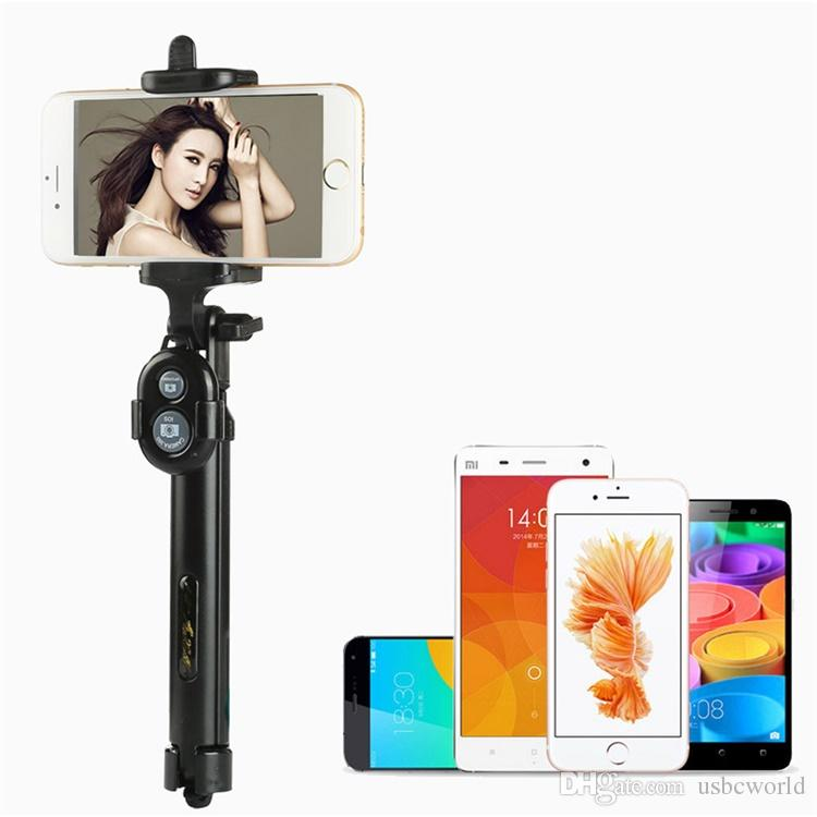 Handheld & Tripod 2-in-1 Extendable Bluetooth Selfie Stick for iPhone X 8 7 6 6S 6Plus Samsung Android Smart Phone