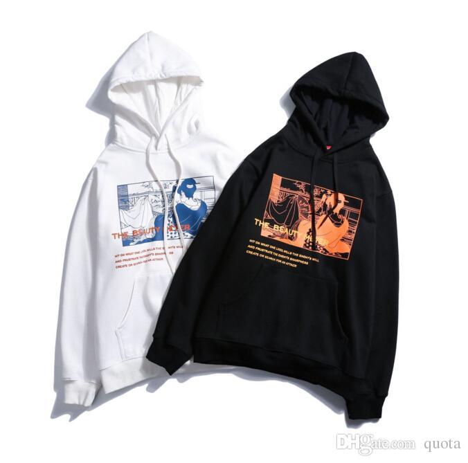 Harajuku Hoodie Sweatshirt Japanese Streetwear Hip Hop Men Casual Black  Hoodie Pullover Fleece Winter Cotton Autumn New UK 2019 From Quota b4b533deb0c7