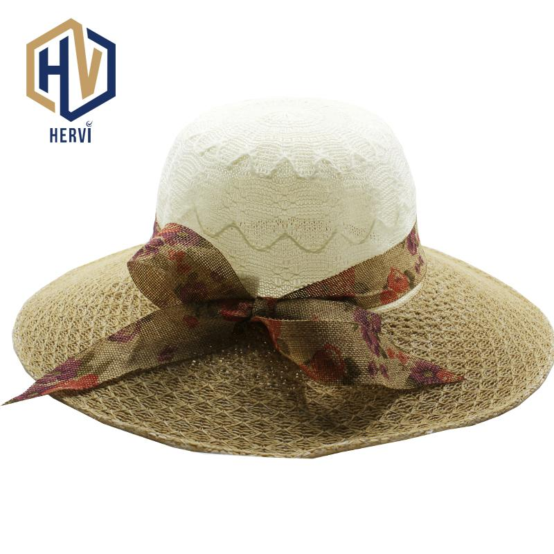 397fe2a722eba 2018 Top Brand Casquette Fun Simple Summer Cap Solid Women Sunlight Topi  Fashion Lady Straw Hat Dropshipping Chapeus HNS6 A Ladies Hats Floppy Hats  From ...