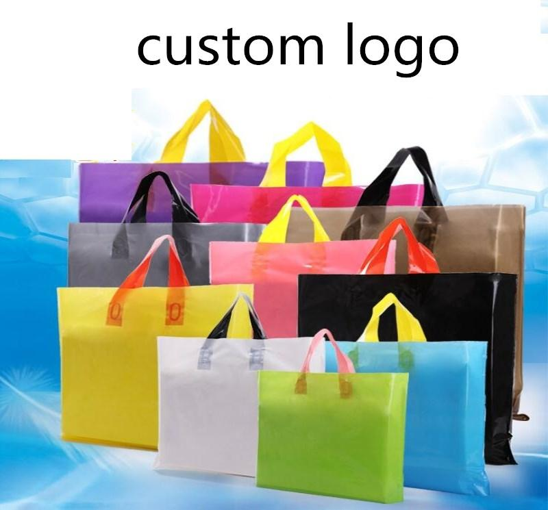 e23405cb1a60 Print Logo Plastic Bags Solid Color Gift Bags With Handles Party Favor  Package Cheap Wrapping Paper Rolls Cheap Xmas Wrapping Paper From Starch