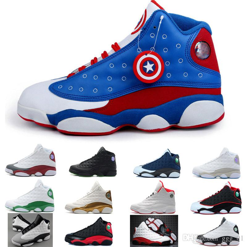 low priced f46c9 0630a Acquista 2018 Top Quality J13 Bianco Blu Giallo Scarpe Da Basket Da Uomo  XIII 13S Sport Sneaker A  91.88 Dal Ggg 01   DHgate.Com