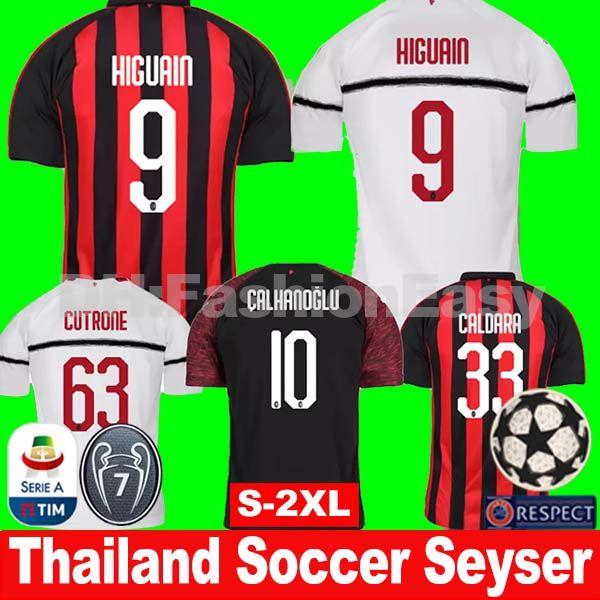 timeless design ebc79 fd1d2 AC MILAN 2018 2019 soccer jerseys HIGUAIN 9 CONTI 12 KESSIE 79 RODRIGUEZ 68  MUSACCHIO CALHANOGLU 10 AC milan jerseys 17 18