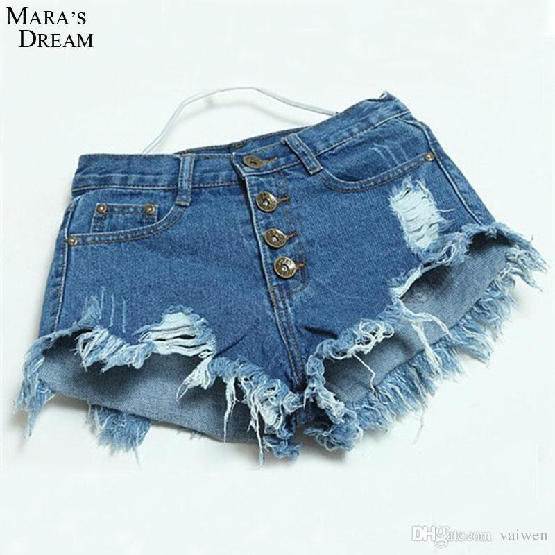 e44e724260ec 2019 Hot Sale Denim Women Shorts Sexy Summer Hole Destroyed Shorts Jeans  Plus Size High Waisted Jeans Short Feminino From Vaiwen, $36.13 | DHgate.Com