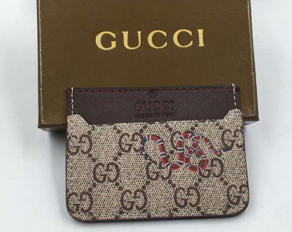 Aaa+ Genuine Leather Knitting Business Card Holders Men Women Bank ...