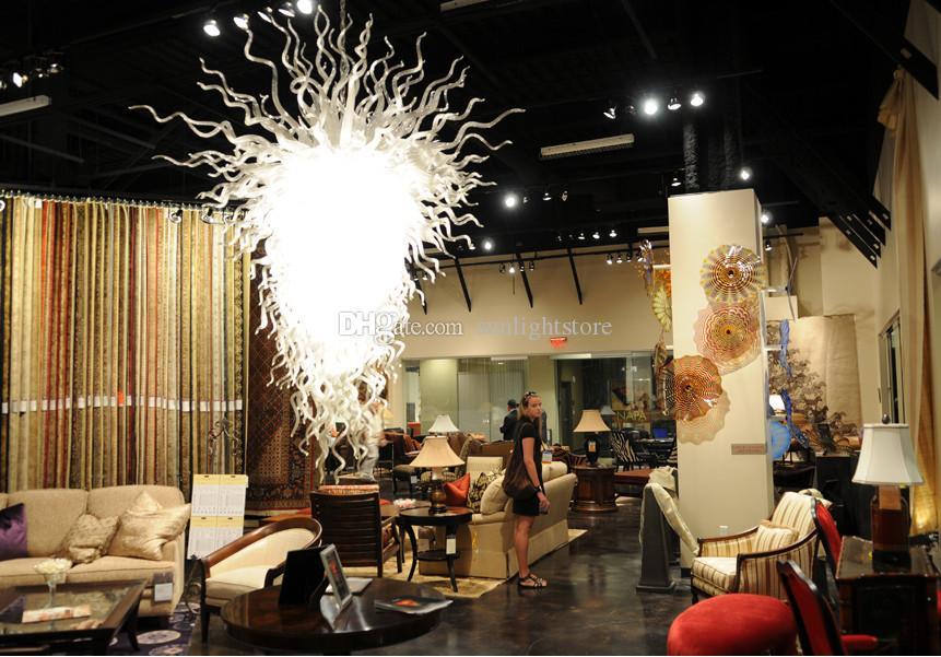 110 / 220В AC LED внутренние выдувные потолочные люстры из стекла Мода Современное освещение из муранского стекла для партии