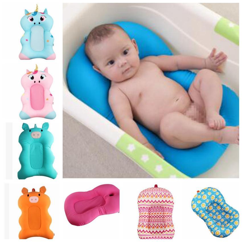 2018 8 Design Baby Bath Mat Cushion Cartoon Bath Tub Pad Safety Baby ...