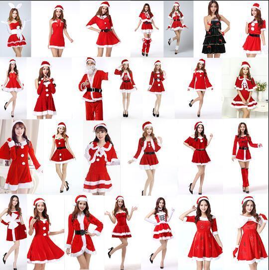 d66c812bd Compre Lotes De Estilos Vestido De Navidad Rojo Santa Cabo Duendes De Hadas  Navideños Capa De La Fiesta De Halloween Traje De Cosplay A  24.86 Del ...