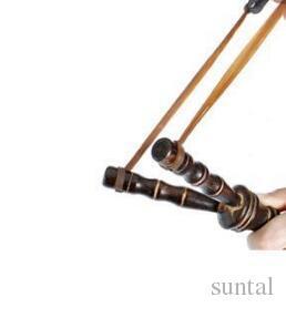 20 см 8 дюймов бамбук стиль деревянные слинг выстрел игрушки оригинальность новизна игры Рогатка лук катапульты охота
