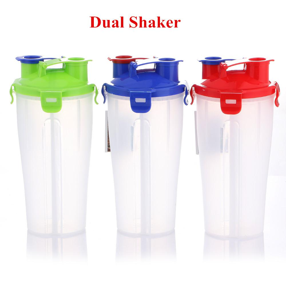 28oz Multifunctional Dual Protein Blender Bottle Snack Beverage