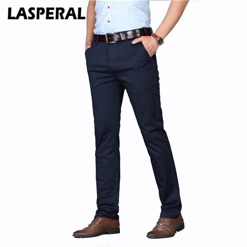 Acquista LASPERAL Brand Business Casual Pantaloni Uomo Moda Solid Elastico  In Vita Pantaloni Uomo Autunno Plus Size Streetwear Pantaloni Dritti A   27.52 Dal ... ddfc7605c9d