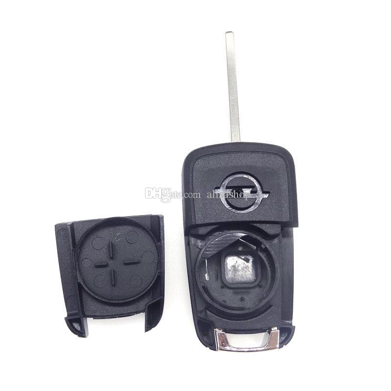 Pieghevole chiave di automobile Shell Remote Flip Key Fob Opel Vauxhall Astra H Insignia J Vectra C Corsa D Zafira G