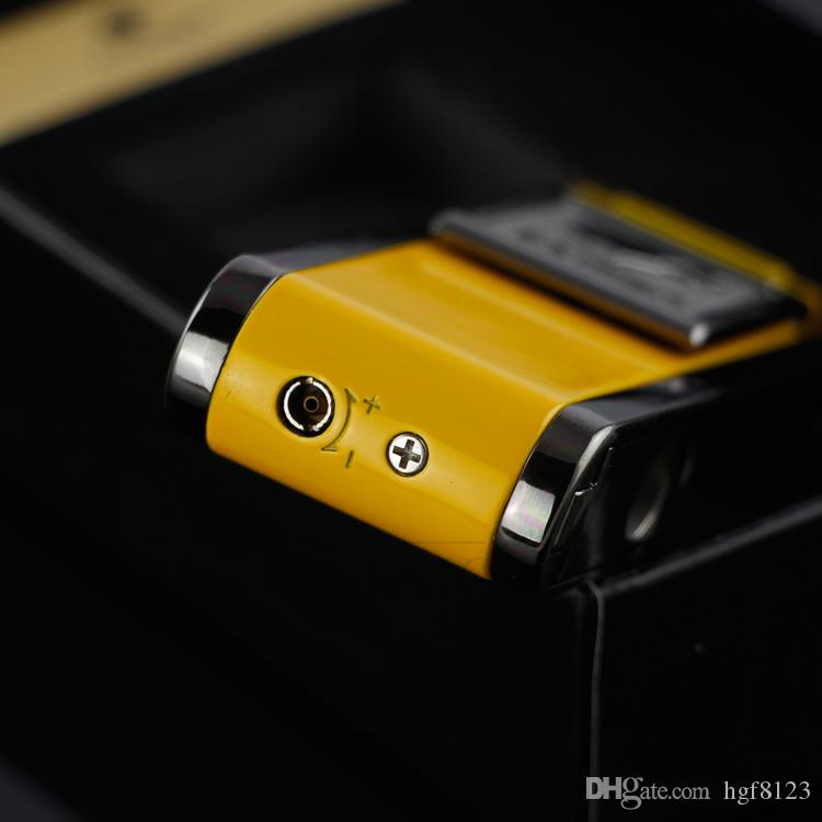 COHIBA Mens Gadgets 2 Frie 화염 젯 토치 시가 라이터 시가 펀치 선물 박스가있는 재충전 용 방풍 부탄 가스 라이터
