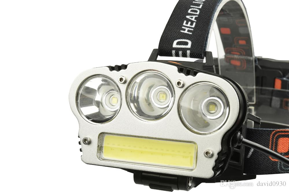 Maimu 3 Led headlamp Hunting Red light Fishing USB headlight Mobile charge head light 18650 battery flashlight head torch M04