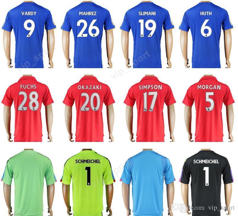 b876dfd81 2019 2018 Soccer Leicester City Jersey 17 18 Thailand 9 VARDY 26 MAHREZ  Football Shirt Uniform Kits 19 SLIMANI 6 HUTH 10 KING 28 FUCHS 20 OKAZAKI  From ...
