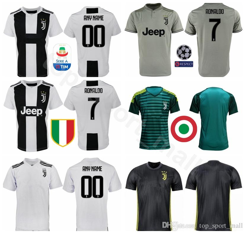 the latest 05a5e 23277 2018 2019 Soccer Jersey Juventus FC Men Kits 9 HIGUAIN 10 PLATINI 21 PIRLO  10 BAGGIO 7 DESCHAMPS Football Shirt Make Custom