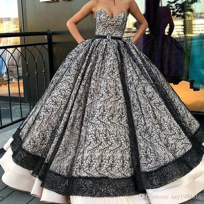 aae91b2924f Fabulous Black Lace Prom Dresses Sexy V Neck Sleeveless Sash Ball Gown  Quinceanera Dresses Glamorous Prom Dress Fascinating Evening Dress 15  Quinceanera ...