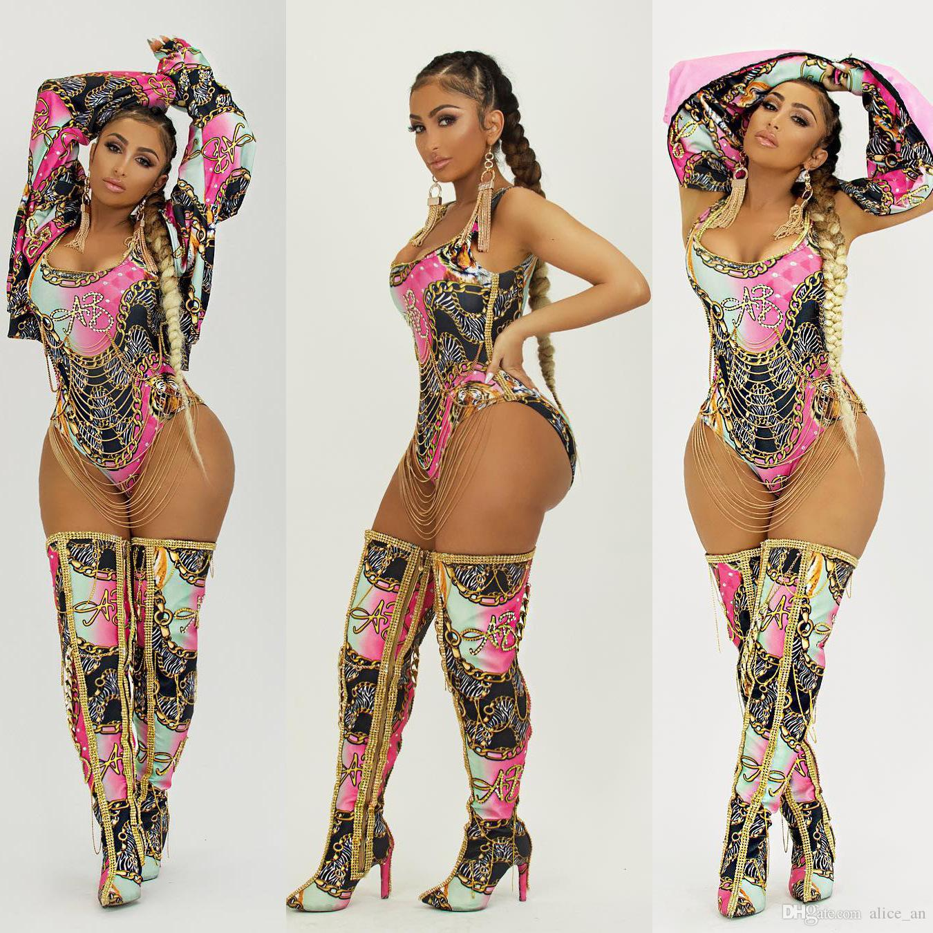 2affe94220 2019 New Arrival Women S Summer 2018 Fashion Sexy Print Short Western Deco One  Piece Swimsuit Hottest Jumpsuit Swim Wear 2XL From Alice an