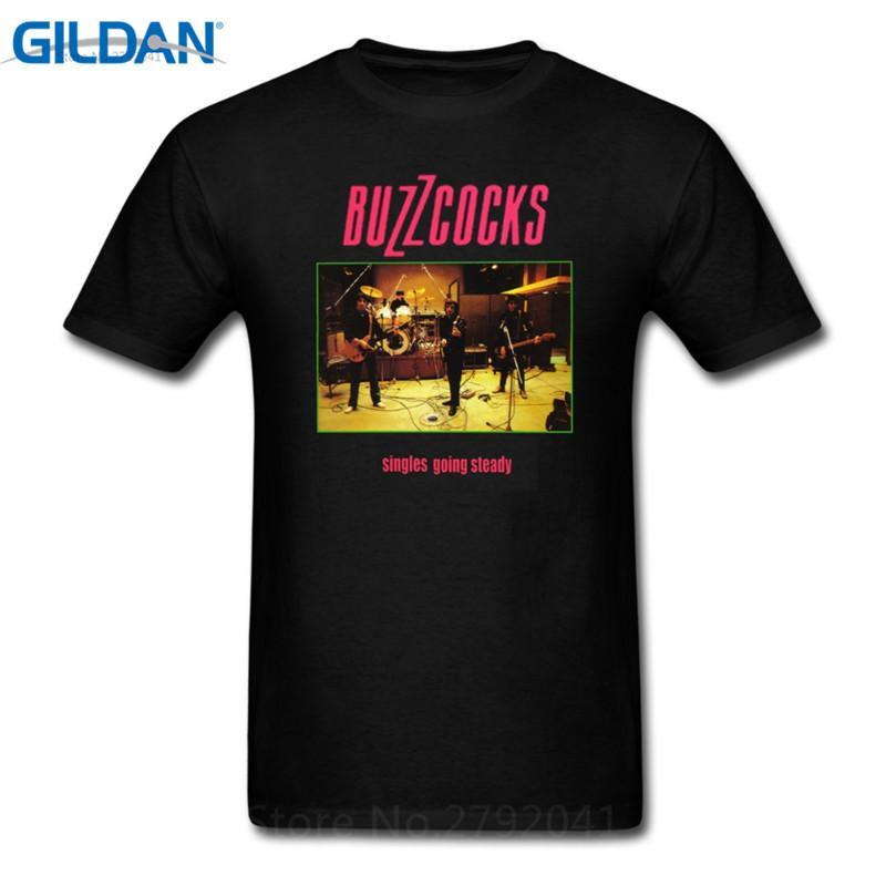 O Camiseta Buzzcocks Singles Algodón De Going Hombres Steady Normales Top Corto Camisas Cuello CSaW7