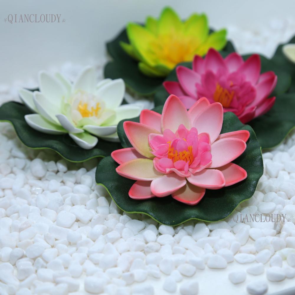 2018 Pe Foam Artificial Fake Lotus Flowers Water Lotus Leaf Lily ...