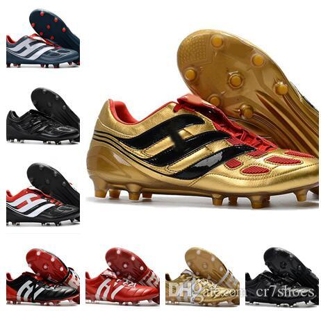2a84f9df5 2019 High Quality 2018 Soccer Cleats Predator Precision TF IC Turf Football  Boots Predator Mania Champagne FG Indoor Soccer Shoes Cheap Hot From  Cr7shoes