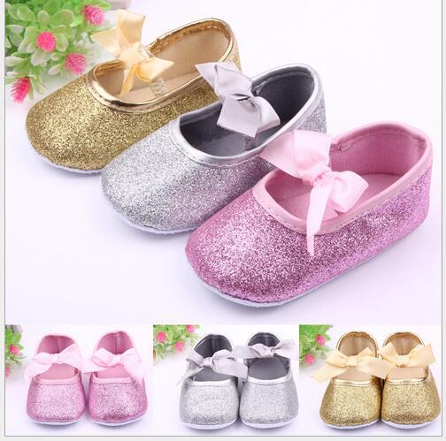 brand new 69d4d 883d9 Glitter Baby Schuhe Sneaker Anti-Rutsch-weiche Sohle Kleinkind Mode Größe  0-18 Monate