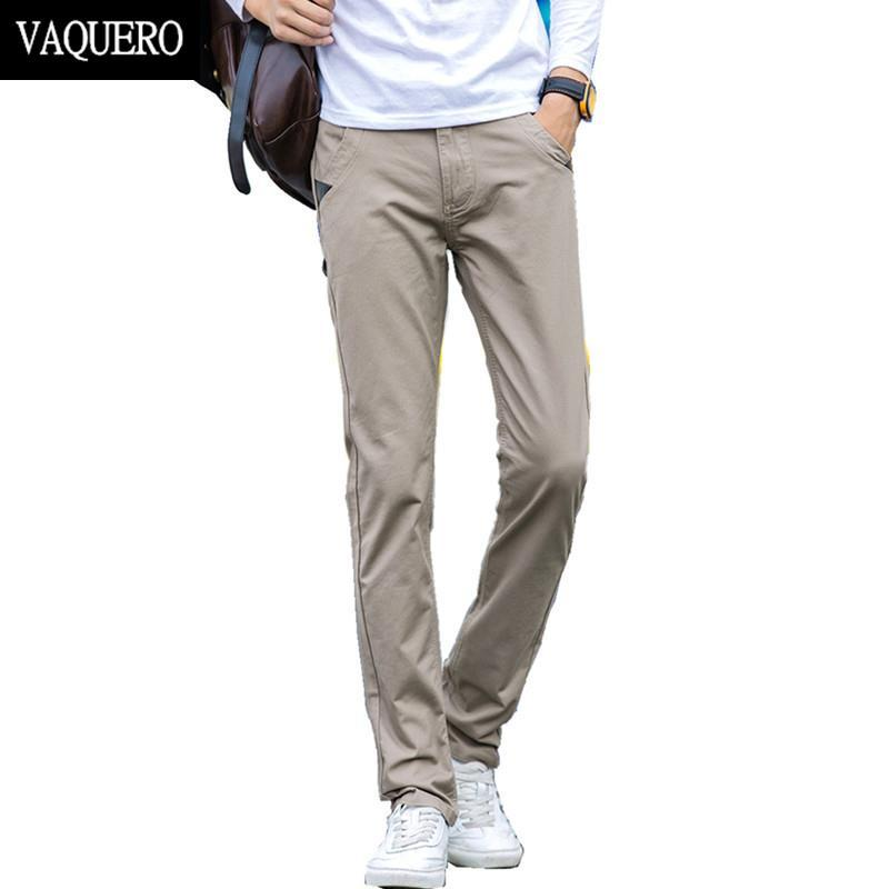 Mens Basic Style Twill Pants Casual Classic 100 Cotton No Stretch Regular Slim Fit Chinos Trousers Size 28 38