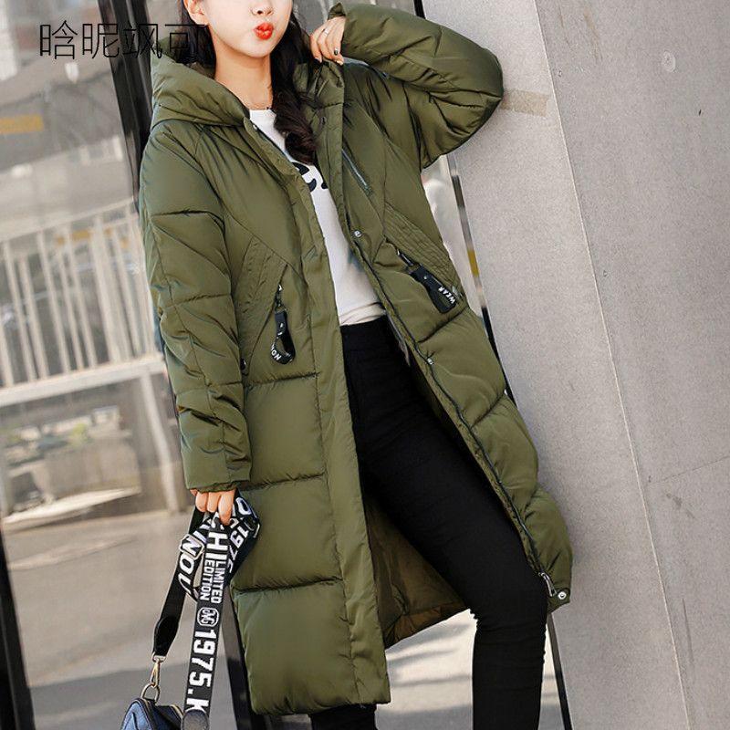30d912e808b Plus Size 2018 Women Parkas Long Winter Female Warm Thicken Slim Ladies  Hooded Jackets Navy Blue Zipper Coats Outwear Parka Online with   103.69 Piece on ...