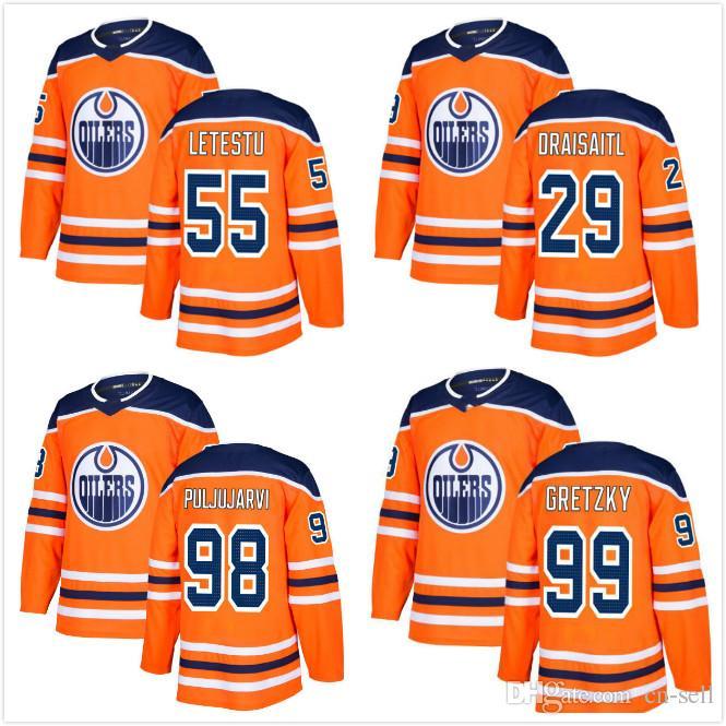 0c046d7d3 2018 2017 New Brand Edmonton Oilers Men 29 Leon Draisaitl Jesse ...